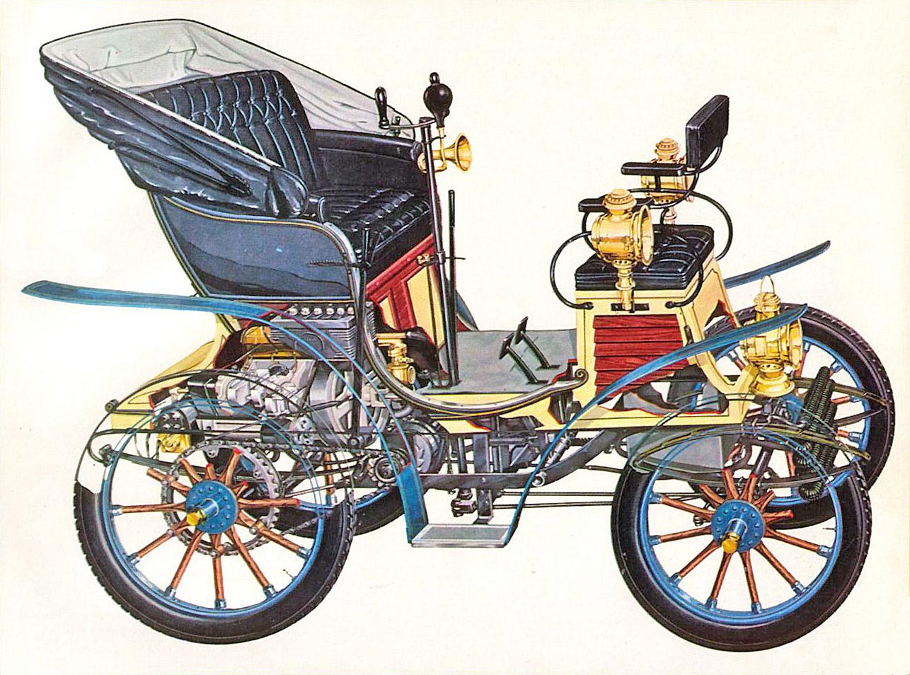 Fiat 4 HP cutaway drawing