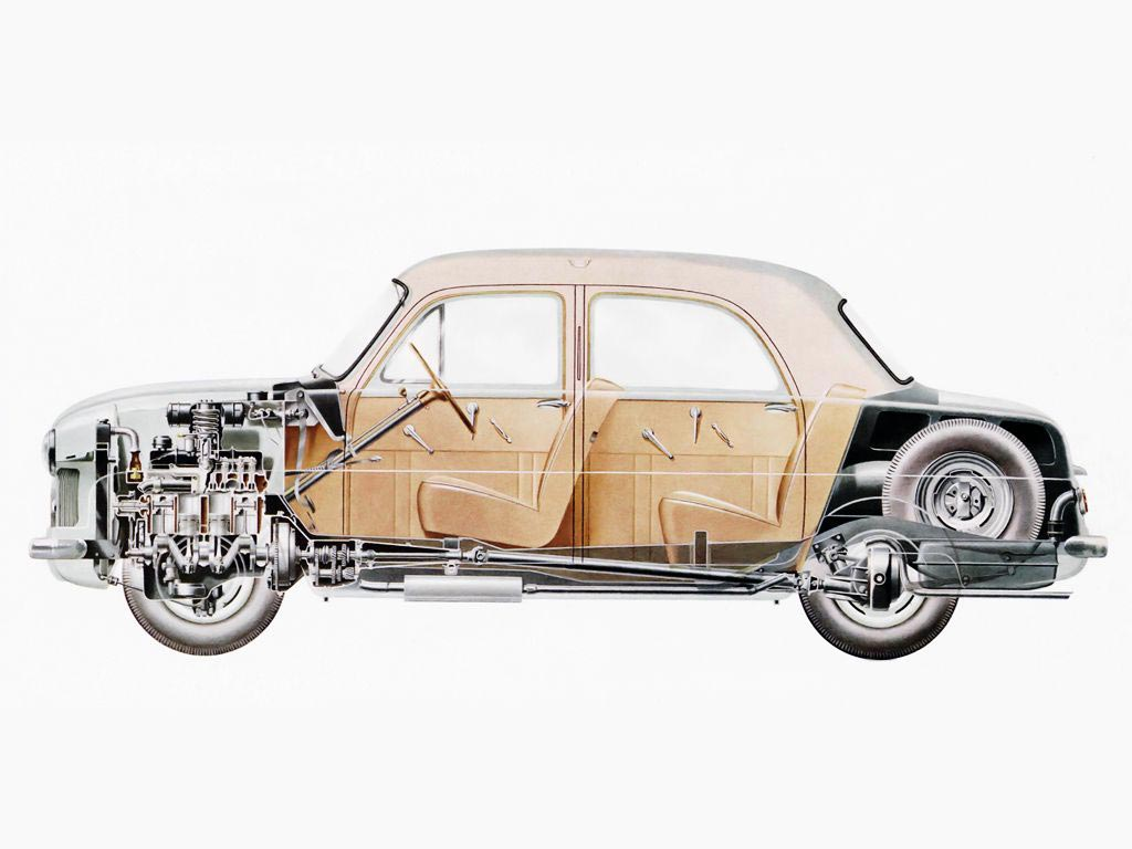 Ford Consul cutaway drawing