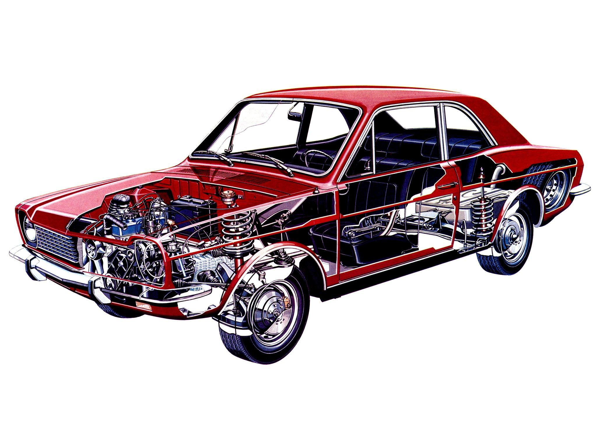 Ford Corcel cutaway drawing