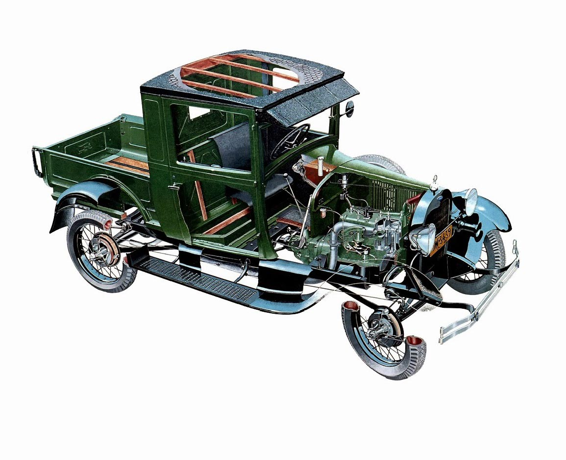 Ford Model A Pickup cutaway drawing