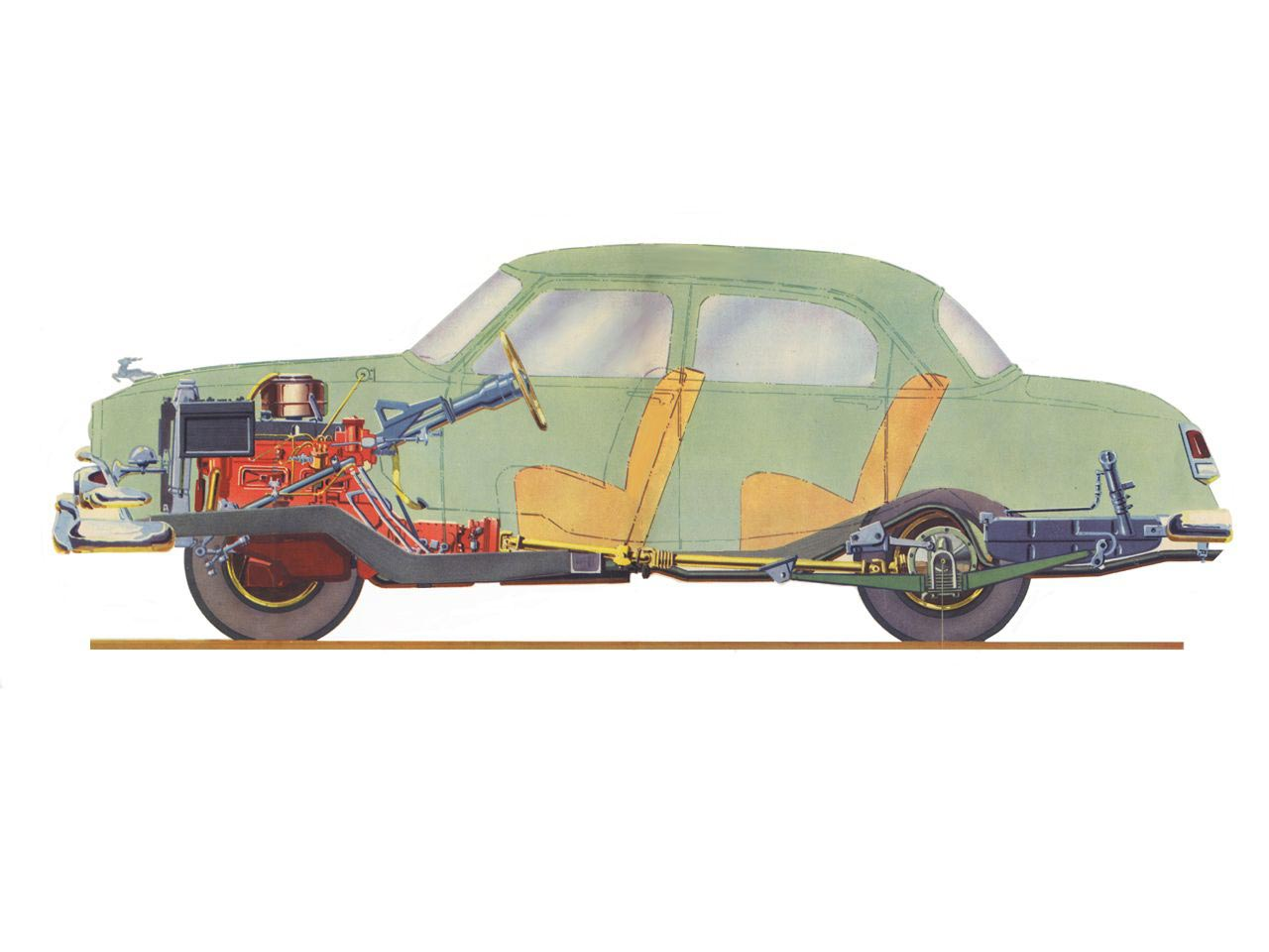GAZ-21 Volga cutaway drawing