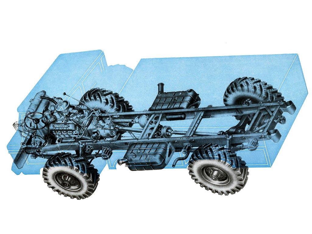 GAZ-66 cutaway drawing