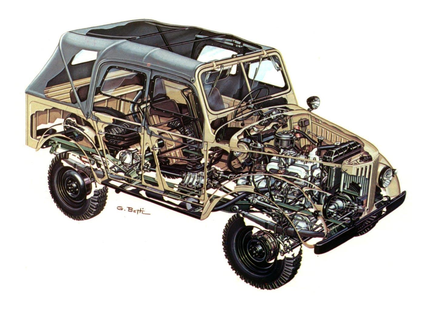 GAZ-69 cutaway drawing