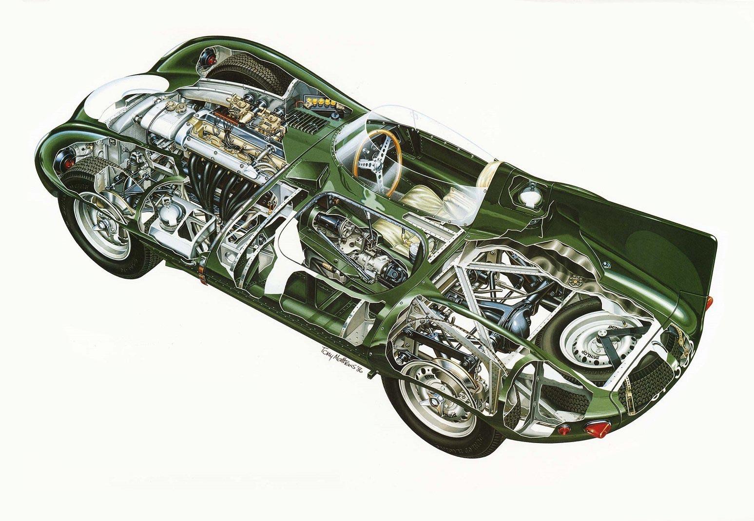 Jaguar D-Type cutaway drawing
