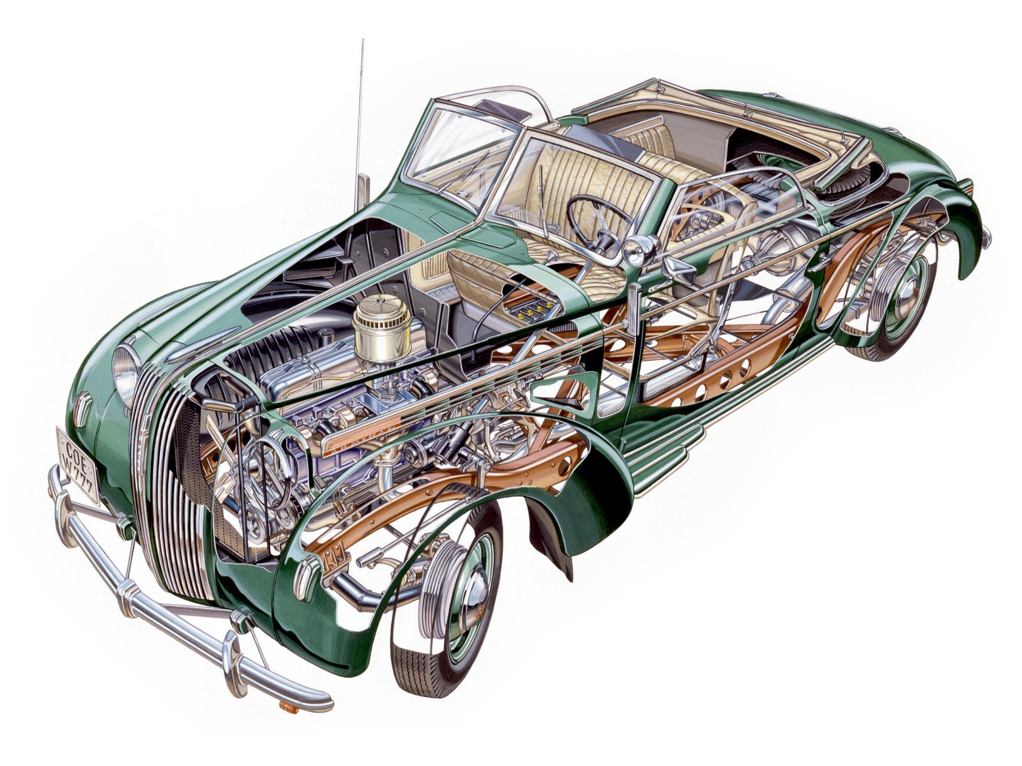 Opel Admiral cutaway drawing