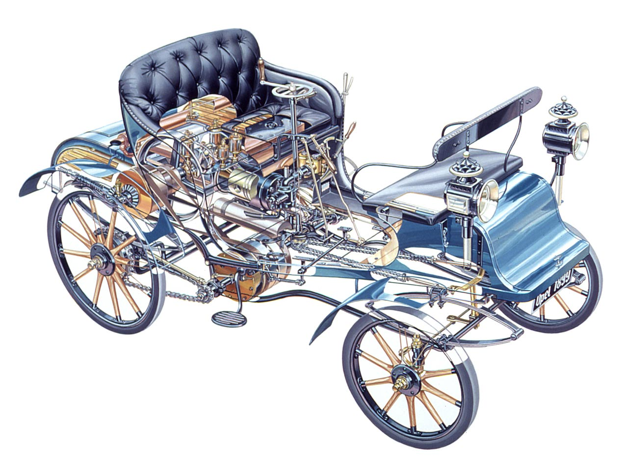 Opel-Lutzmann 3 PS cutaway drawing