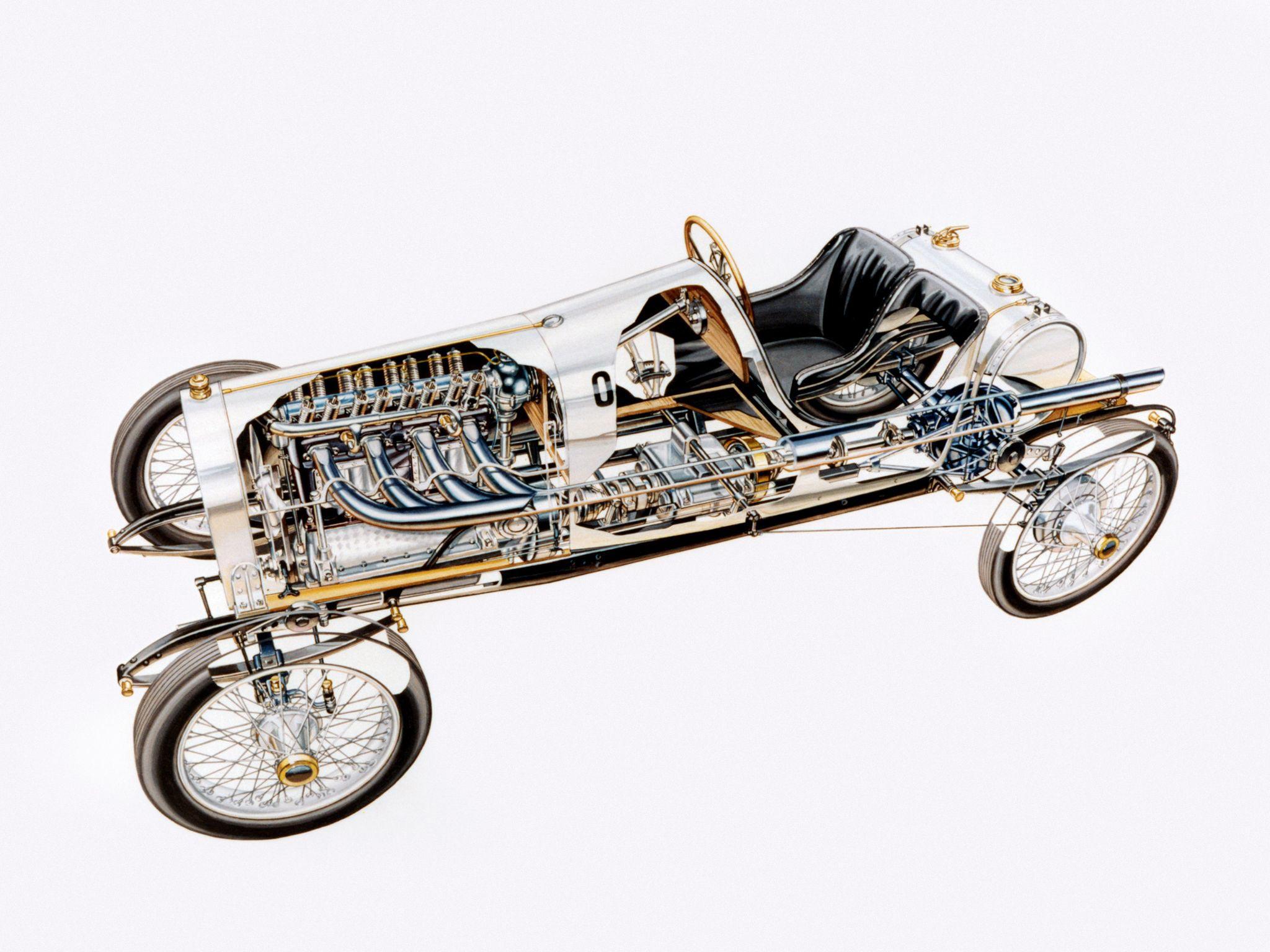 Opel Rennwagen cutaway drawing