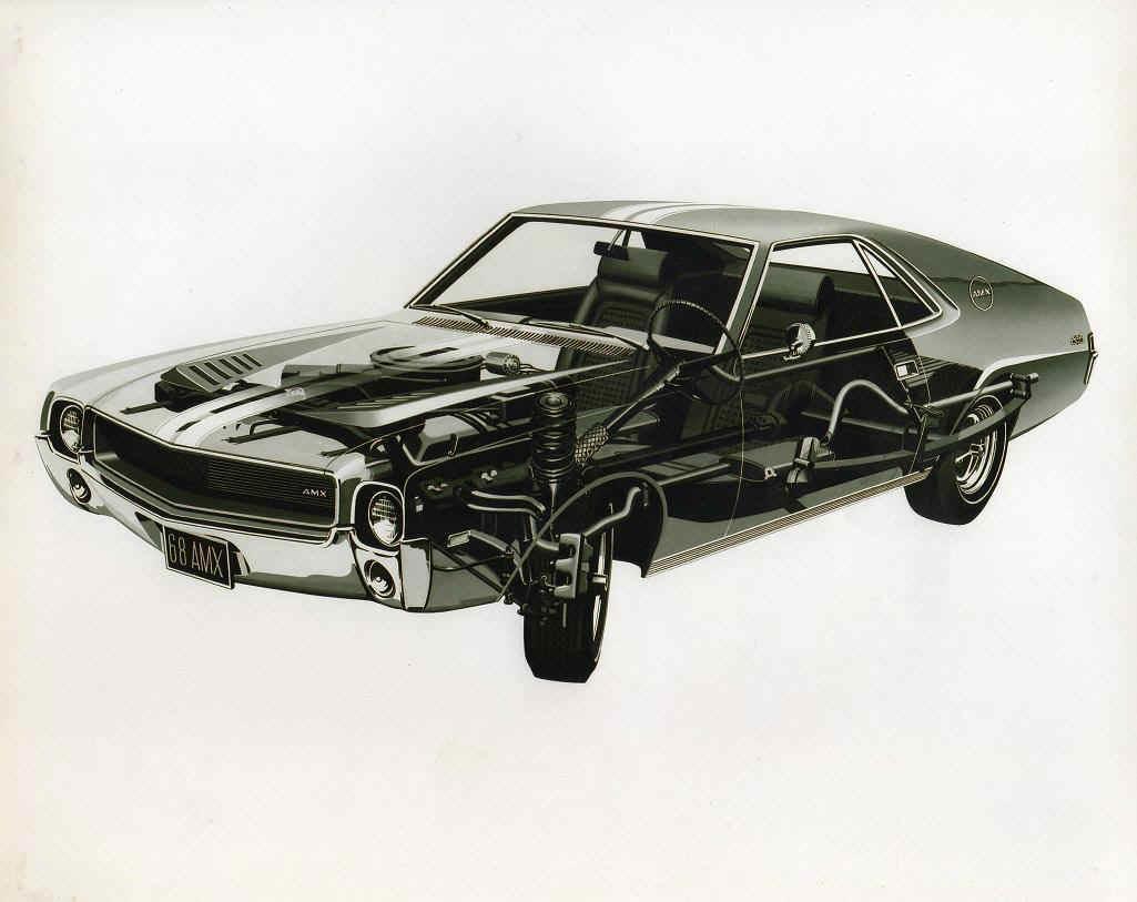 AMC AMX cutaway drawing