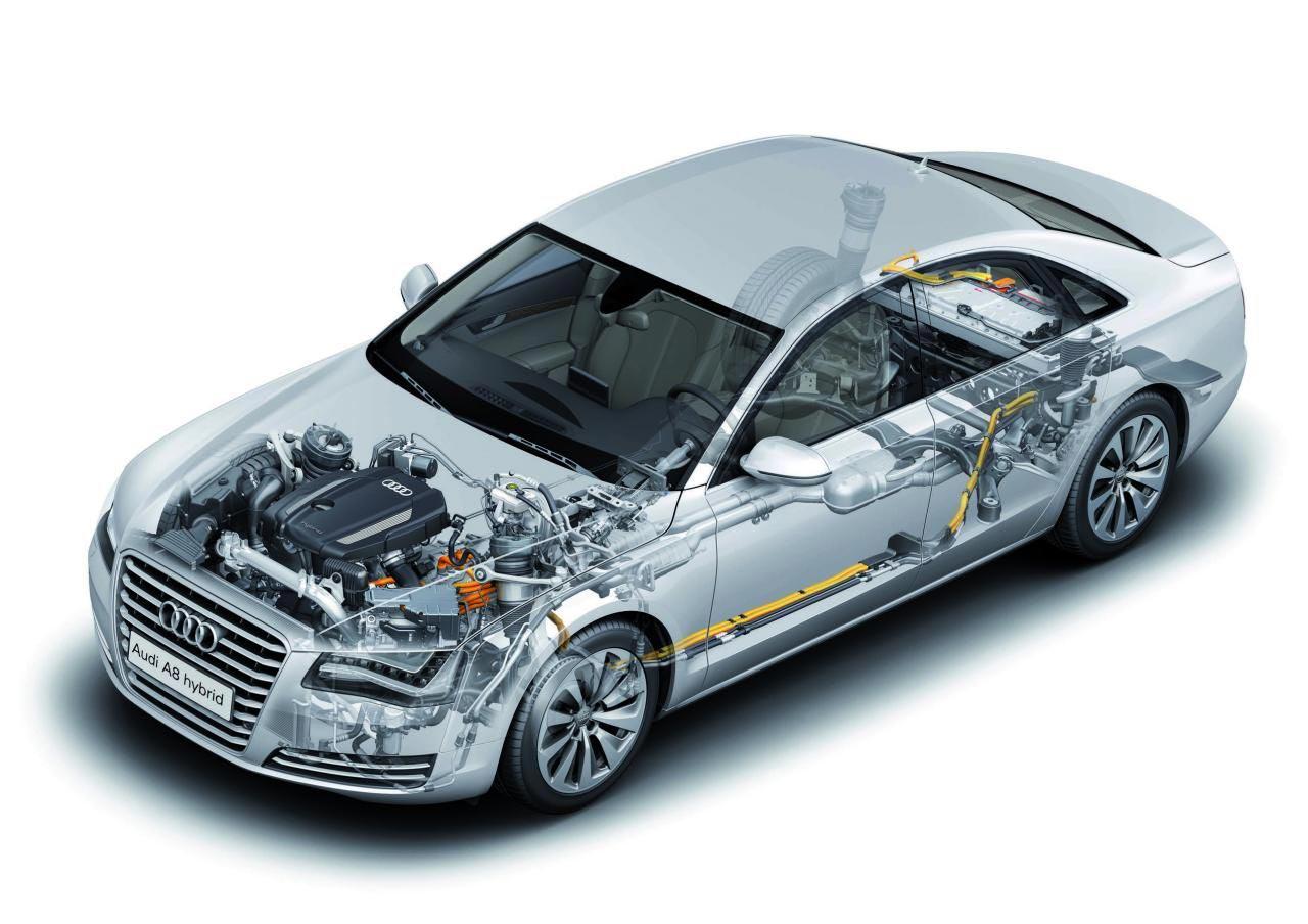 Audi A8 cutaway drawing