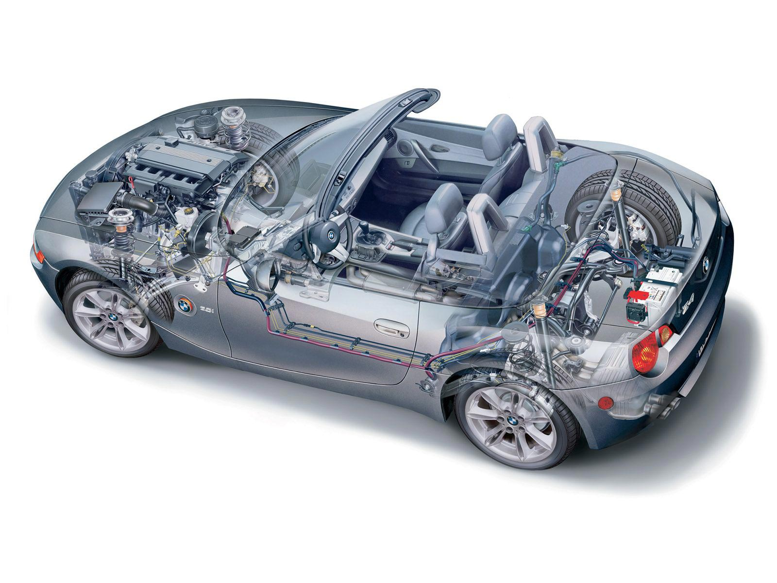 BMW Z4 cutaway drawing