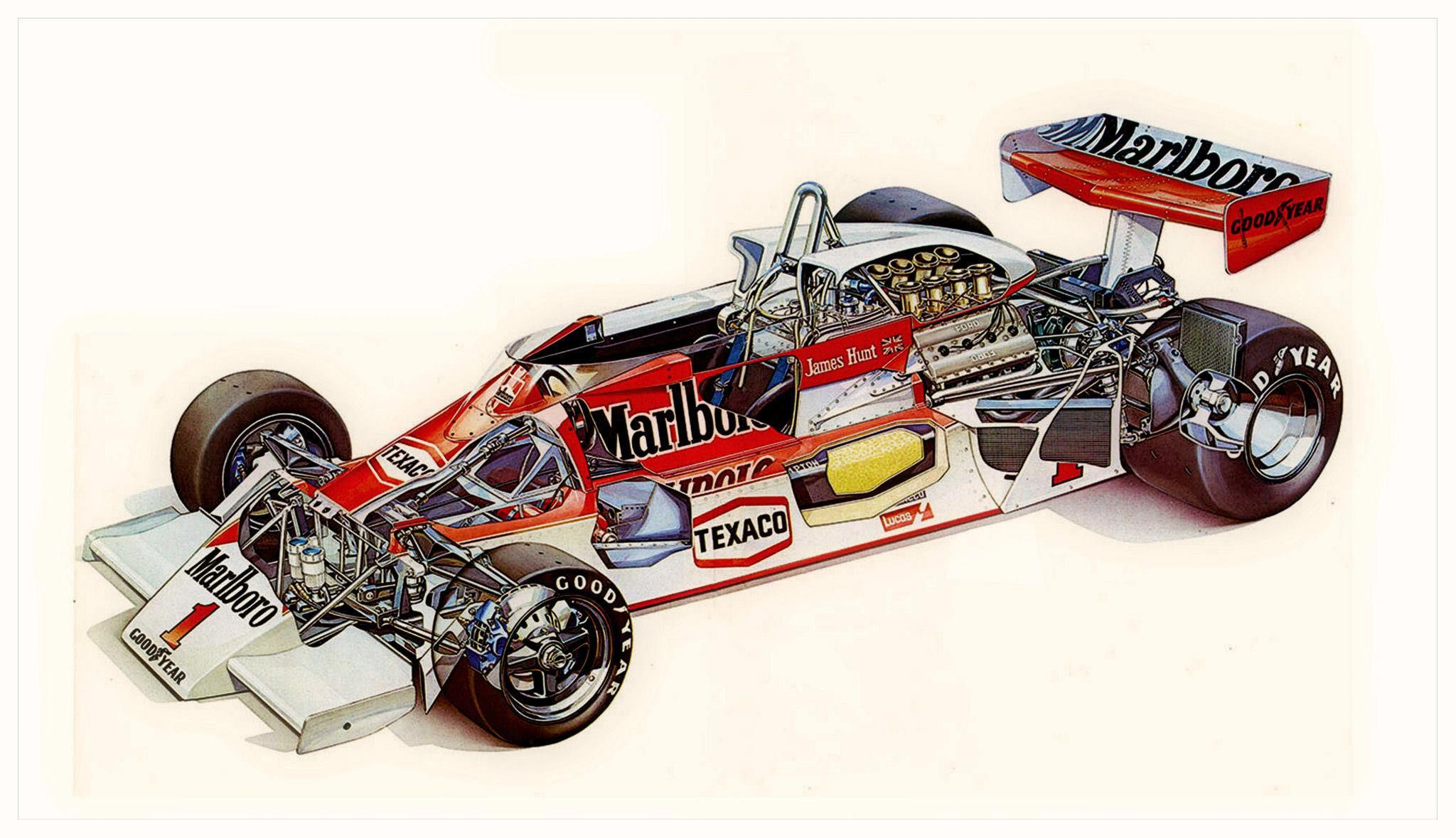 McLaren M26 cutaway drawing