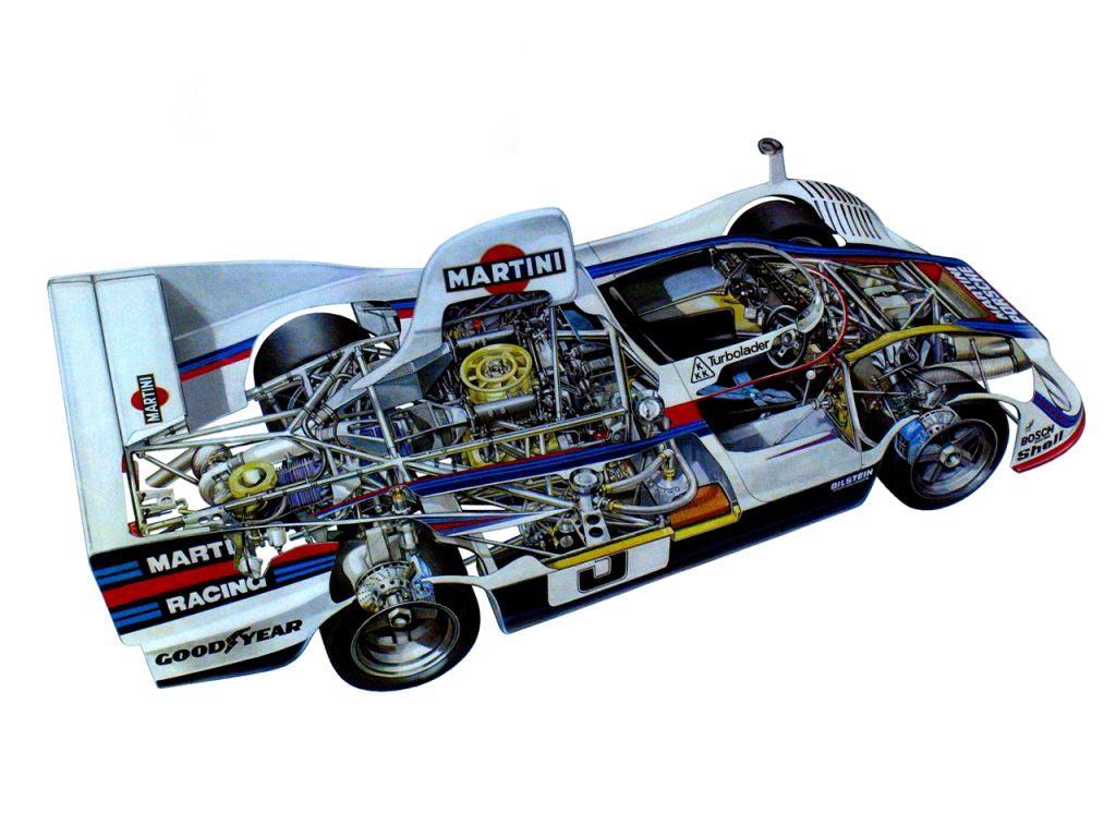 Porsche 936 cutaway drawing