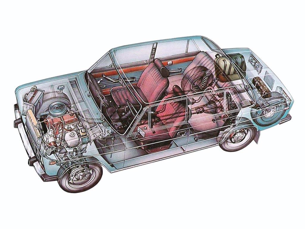 VAZ-2106 cutaway drawing
