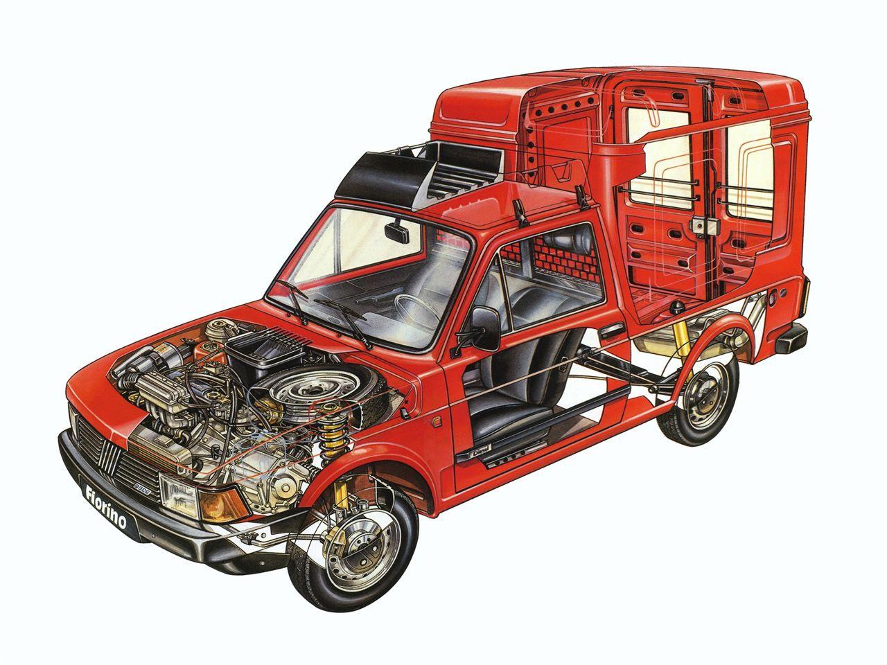 Fiat Fiorino cutaway drawing