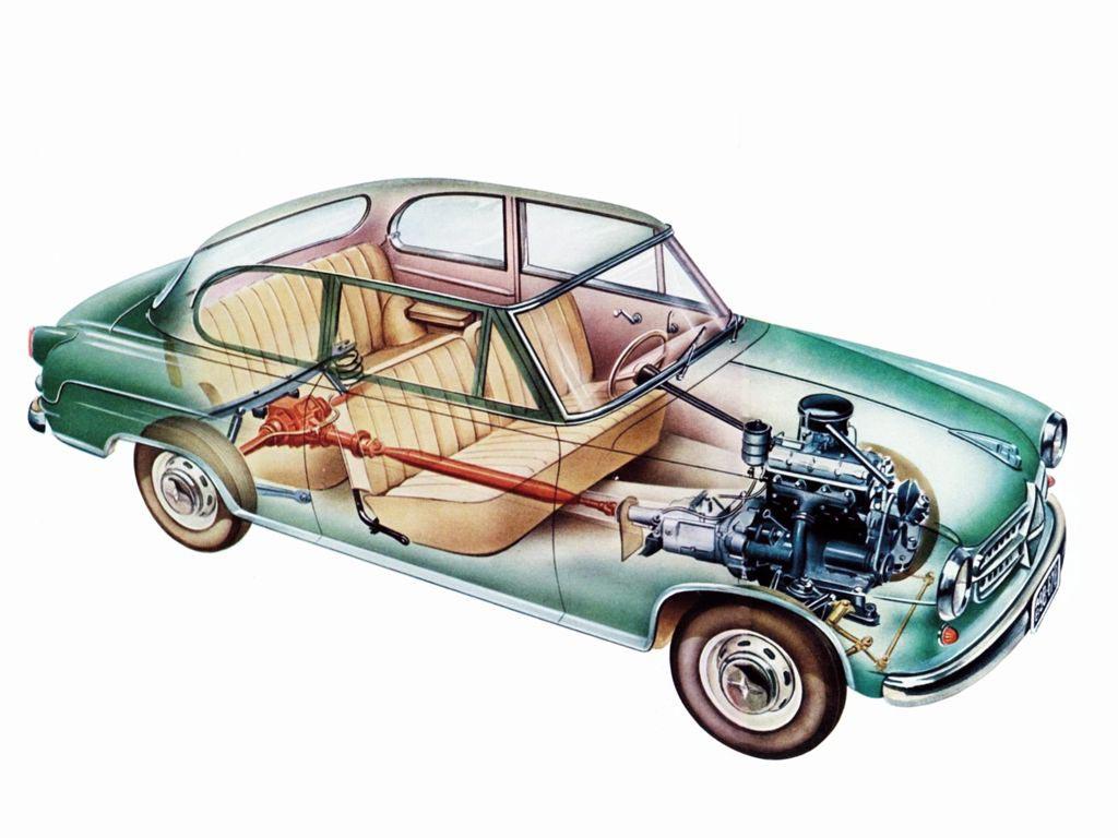 Borgward Isabella cutaway
