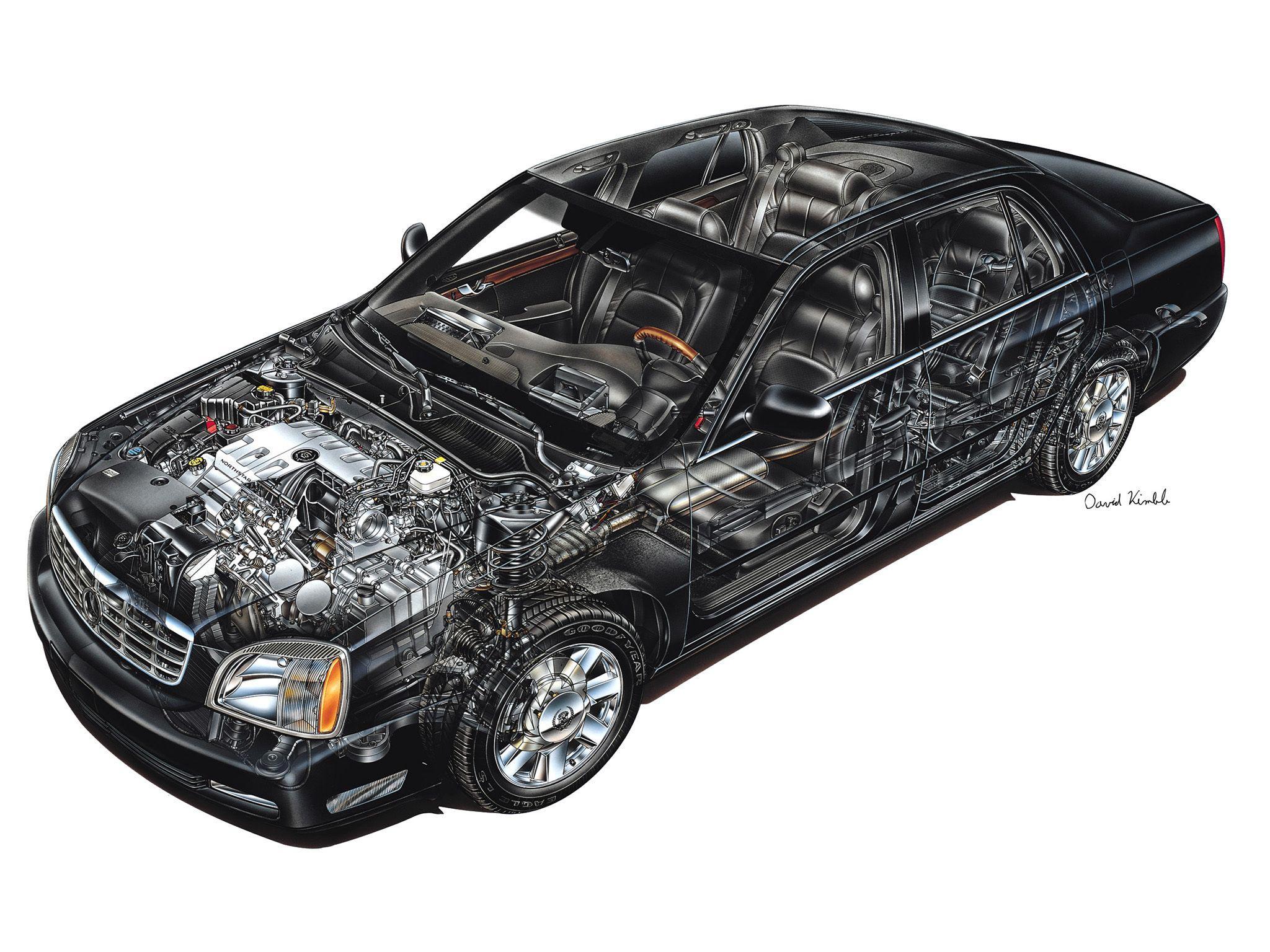 Cadillac Deville cutaway drawing