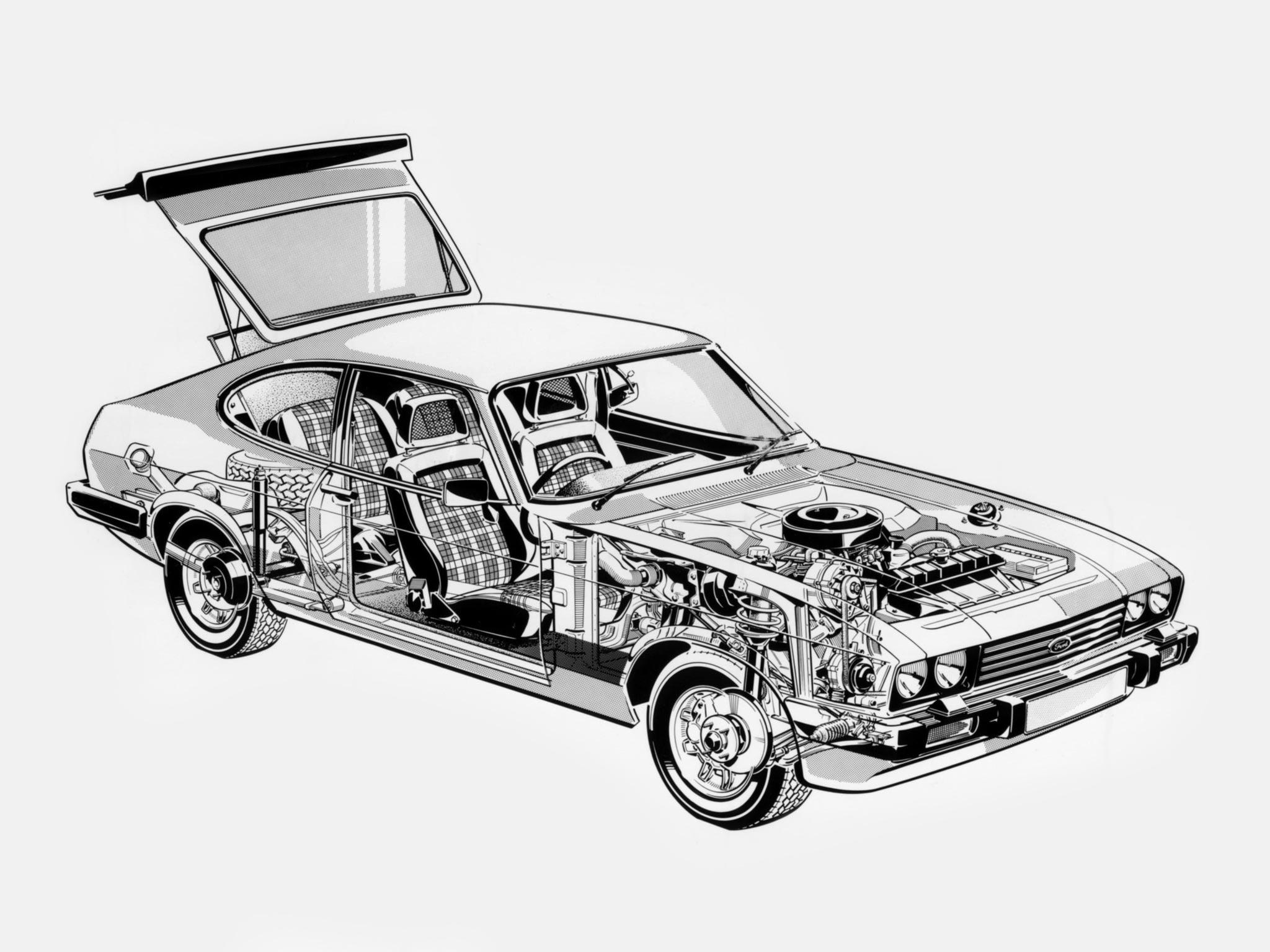 Ford Capri S cutaway drawing