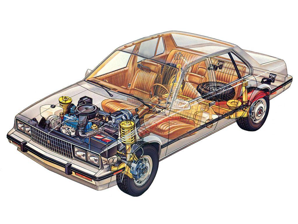 Cadillac Cimarron cutaway drawing