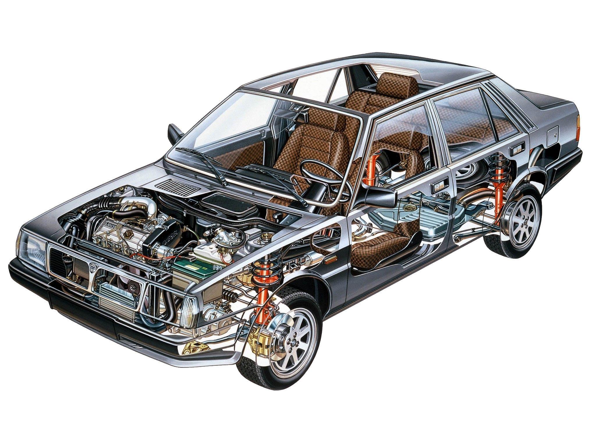 Lancia Prisma cutaway drawing