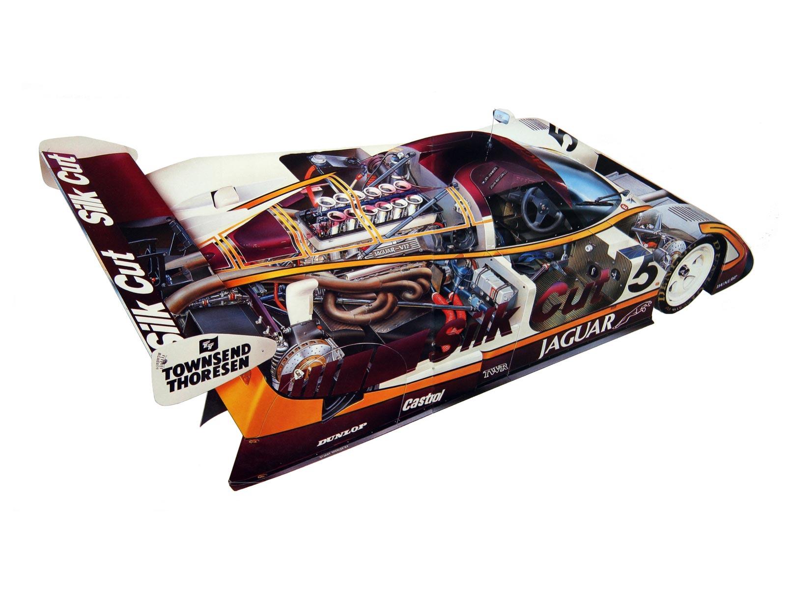 Jaguar XJR9 cutaway drawing