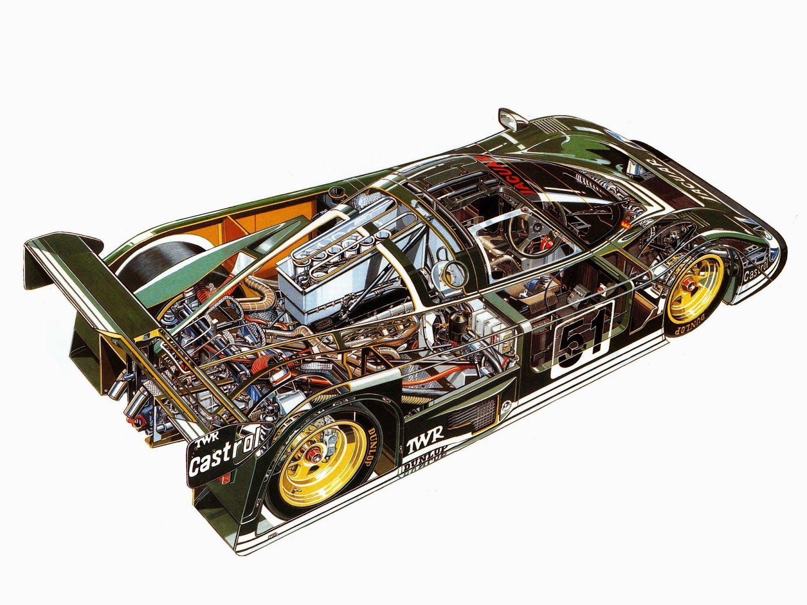 Jaguar XJR6 cutaway drawing