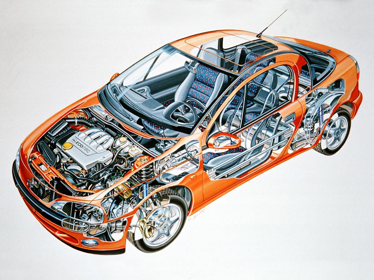 Opel Tigra cutaway drawing