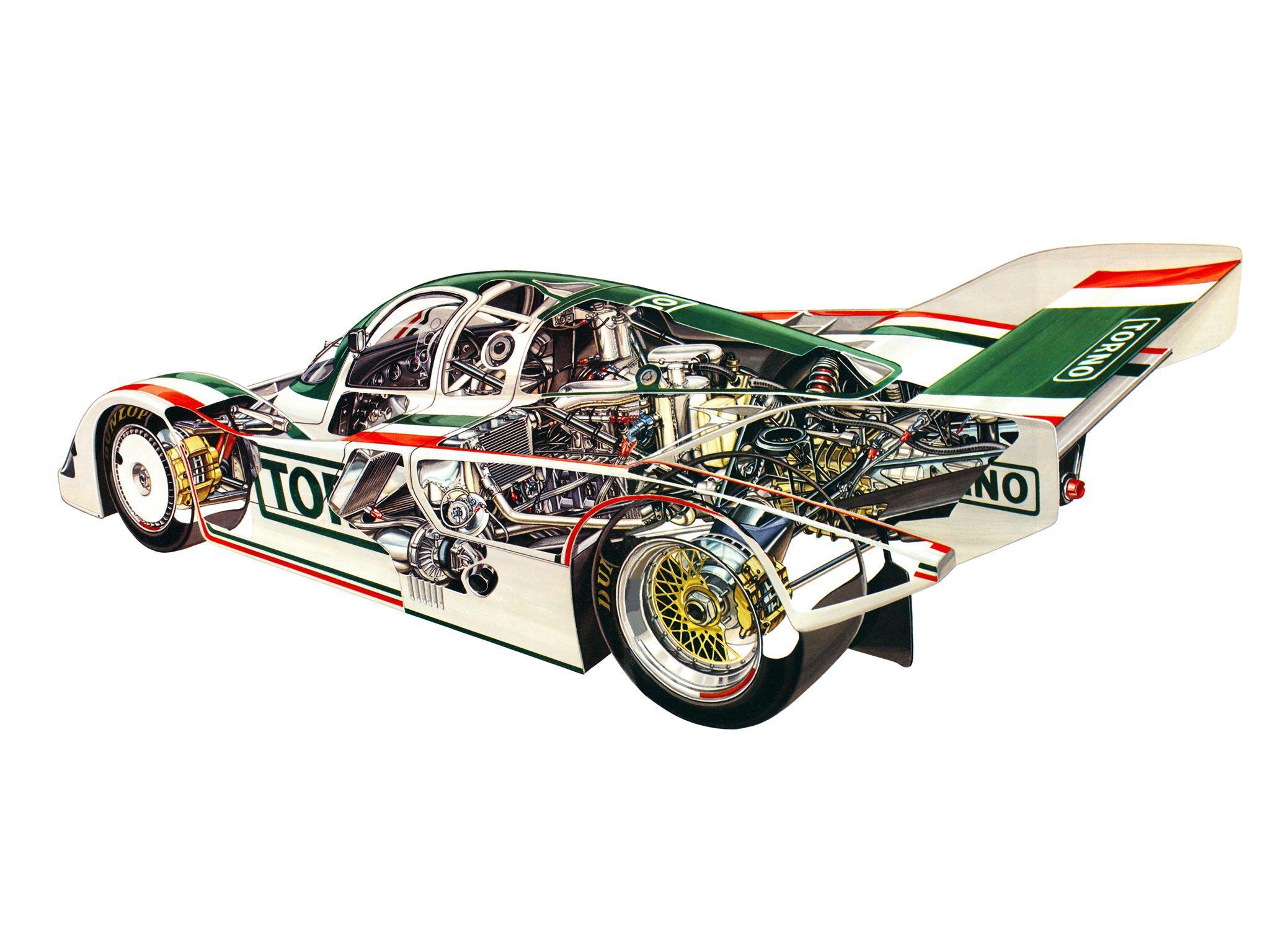 Porsche 962C cutaway drawing