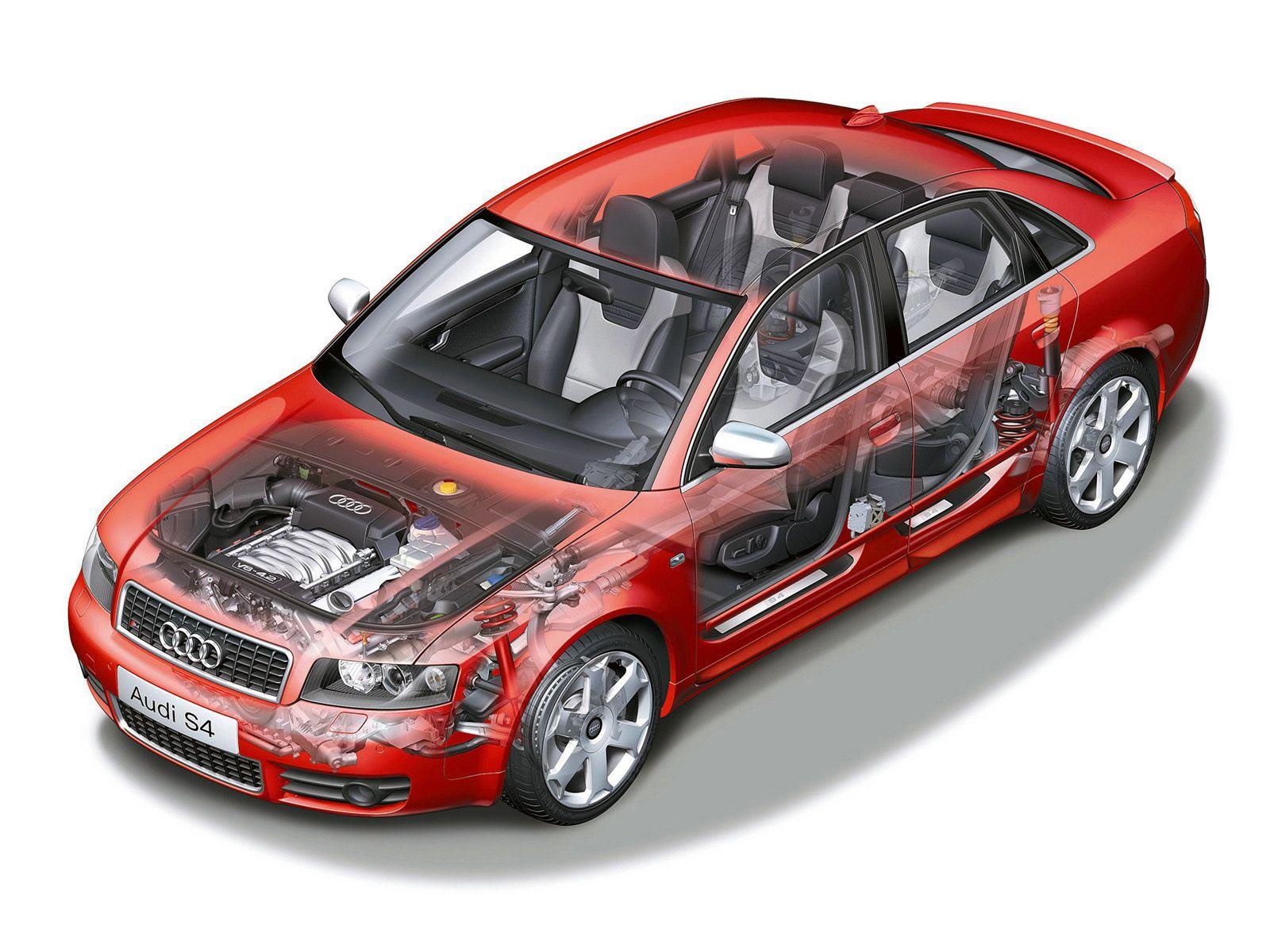 Audi S4 cutaway drawing