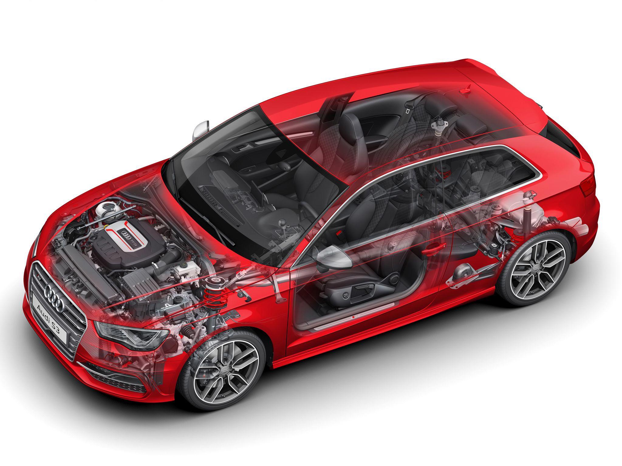 Audi S3 cutaway drawing