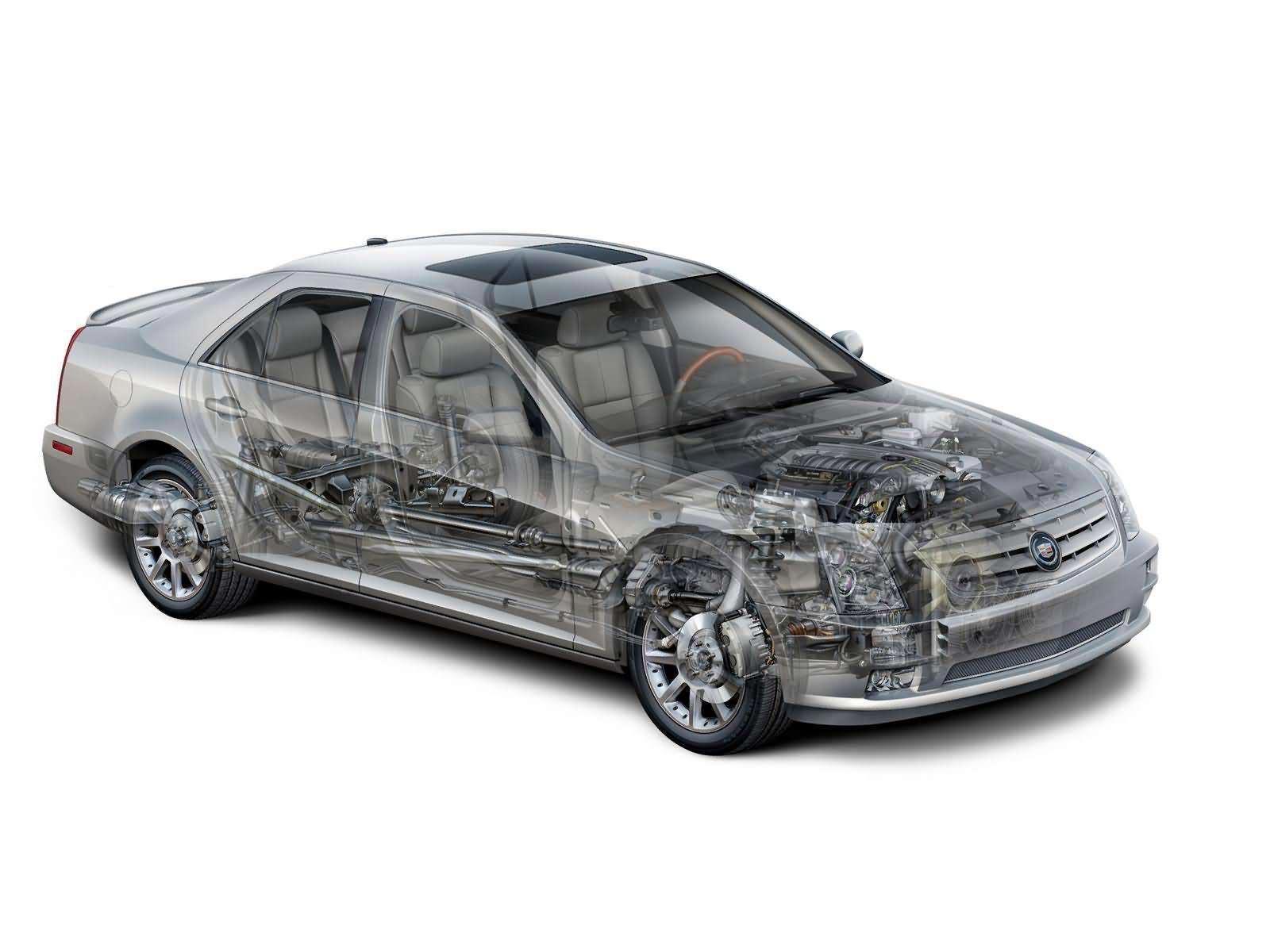 Cadillac STS cutaway drawing