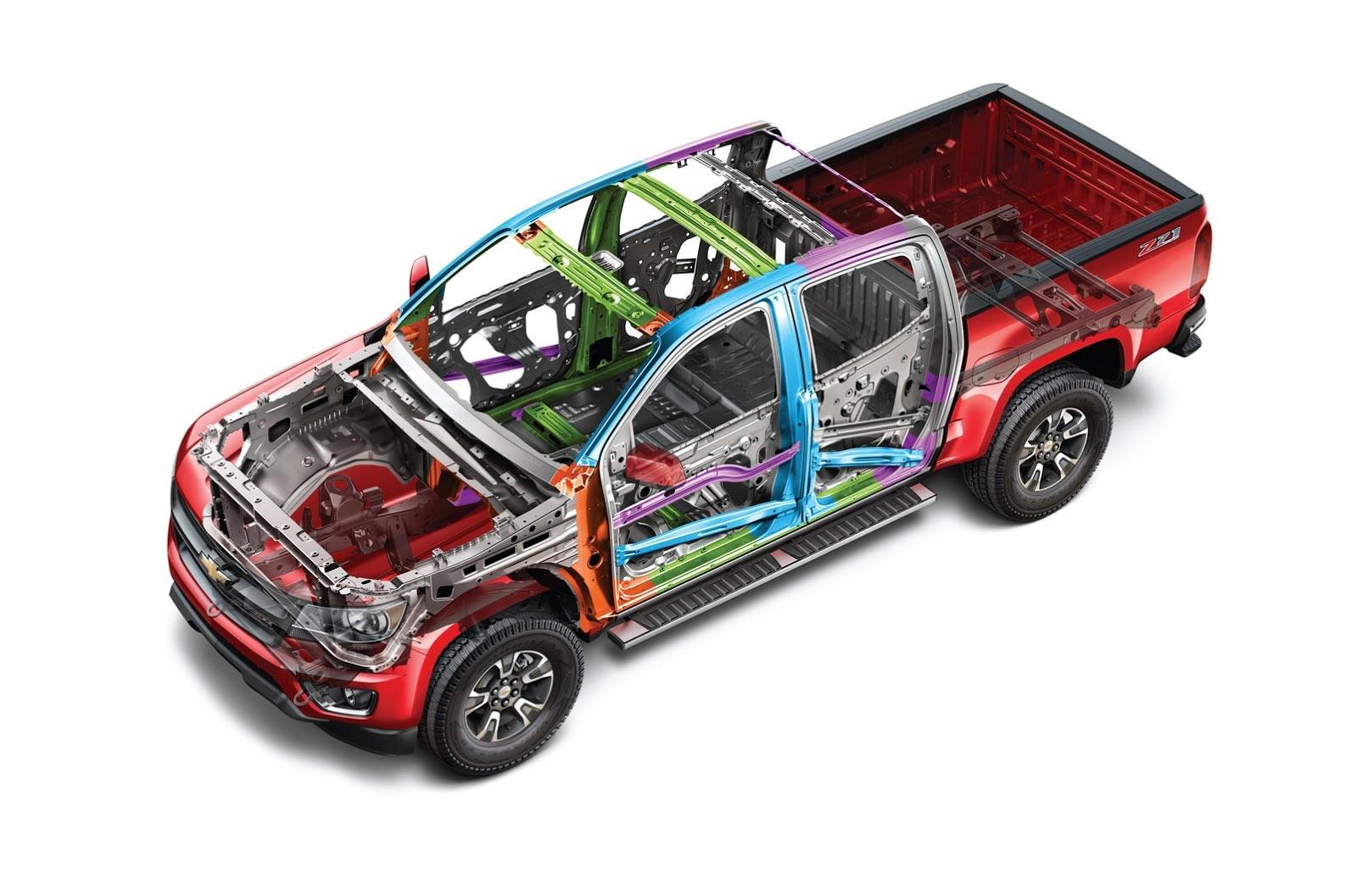 Chevrolet colorado cutaway drawing