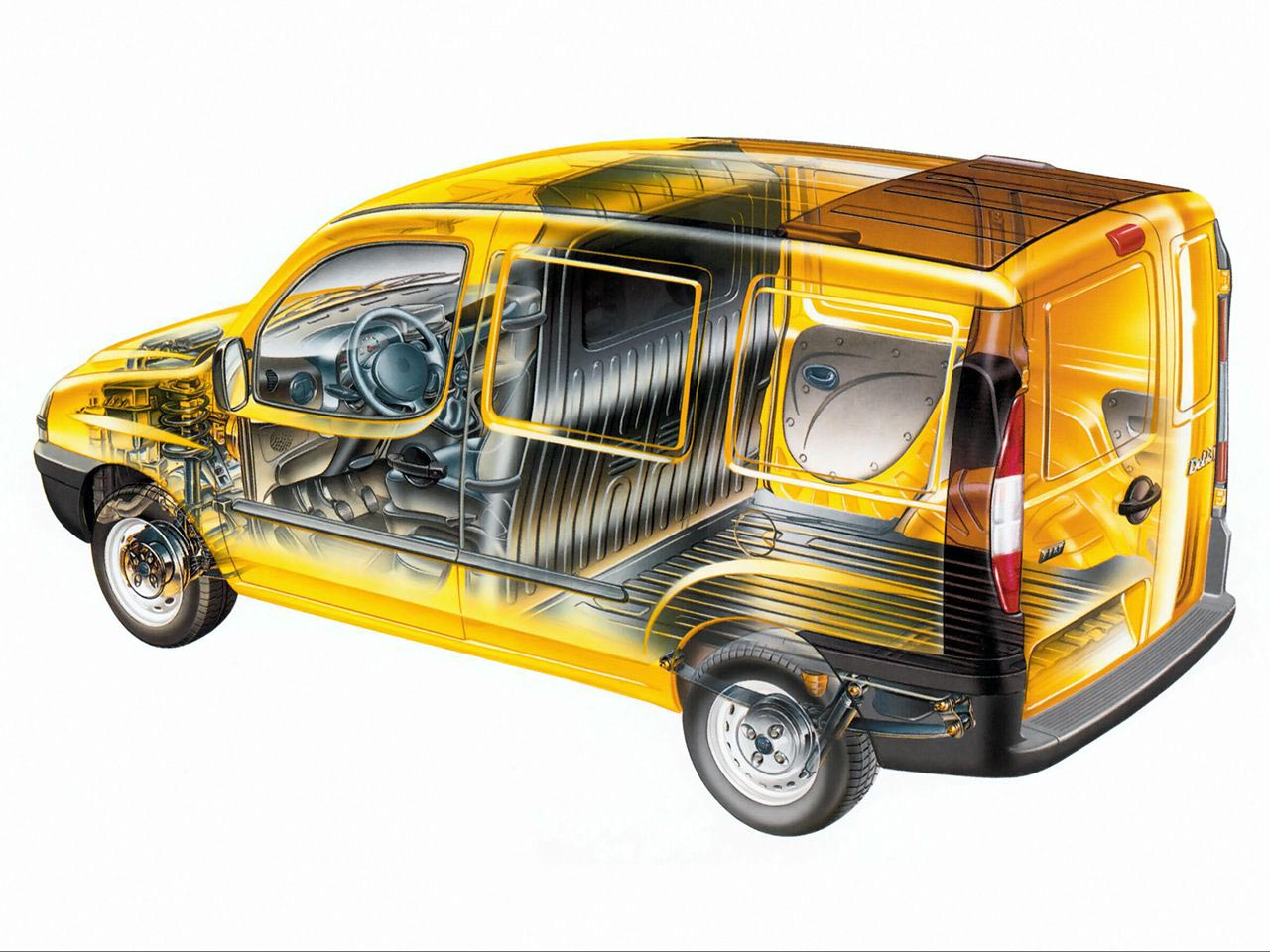 Fiat Doblo cutaway drawing