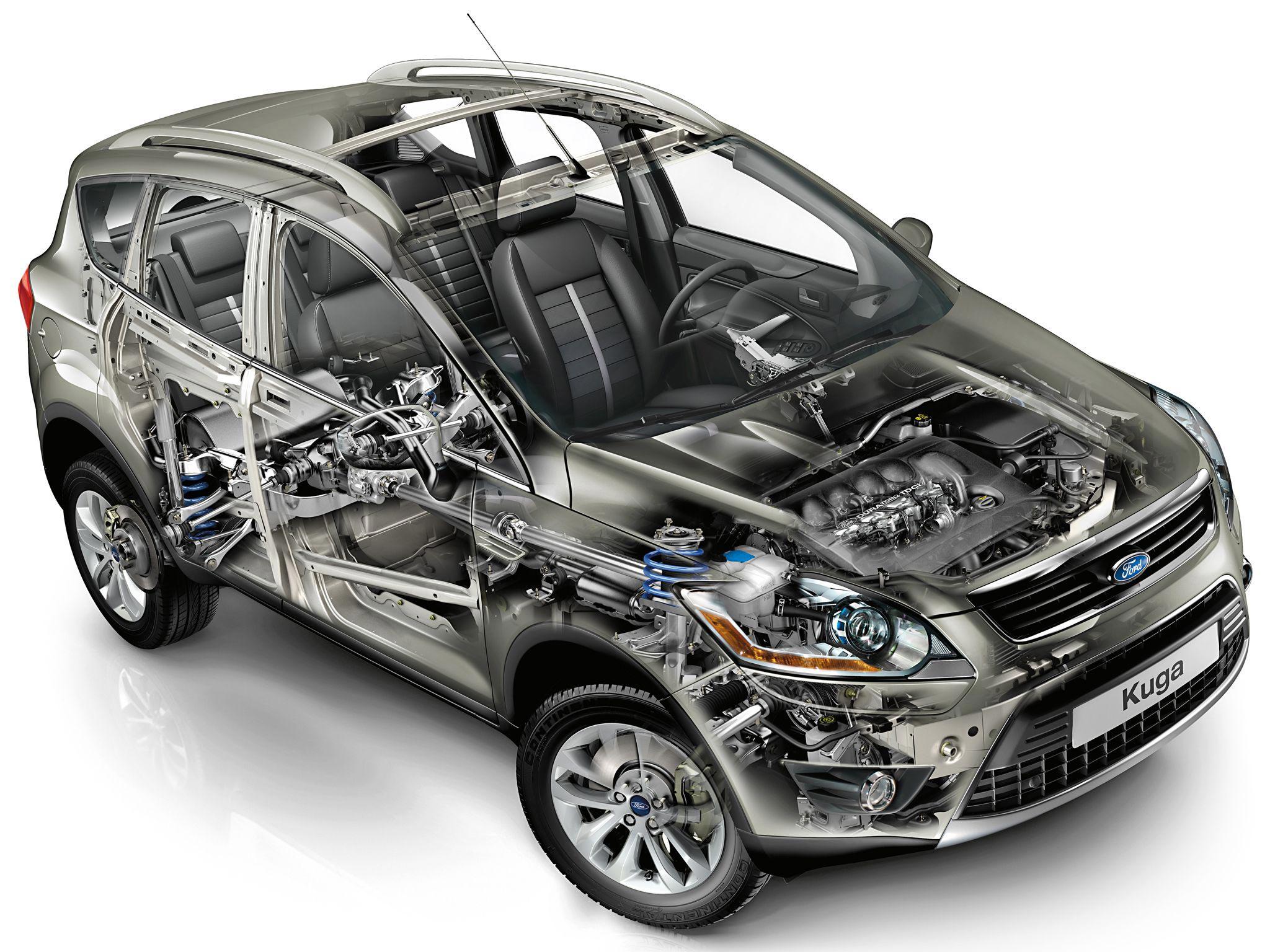 Ford Kuga cutaway drawing