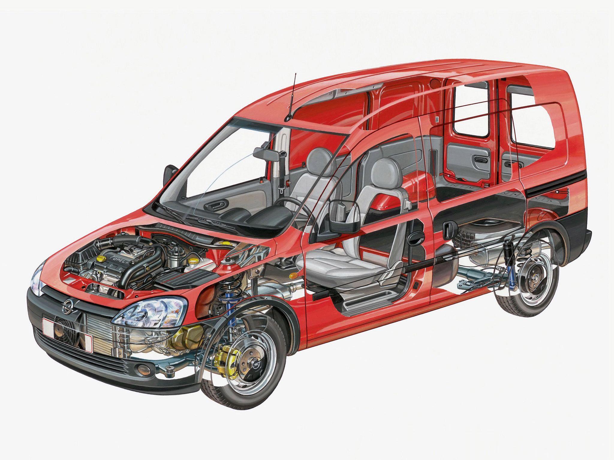 Opel Combo cutaway drawing