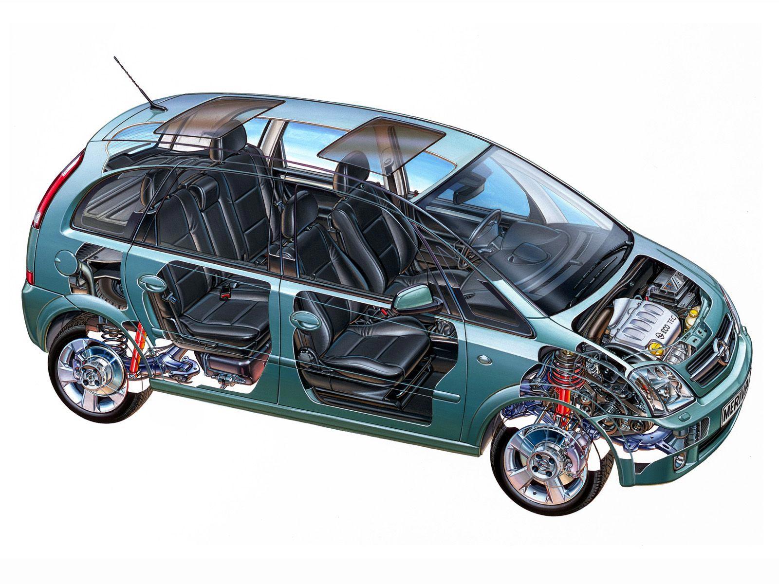 Opel Meriva cutaway drawing