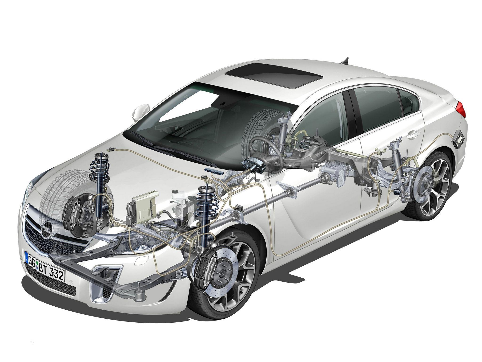 Opel Insignia cutaway drawing