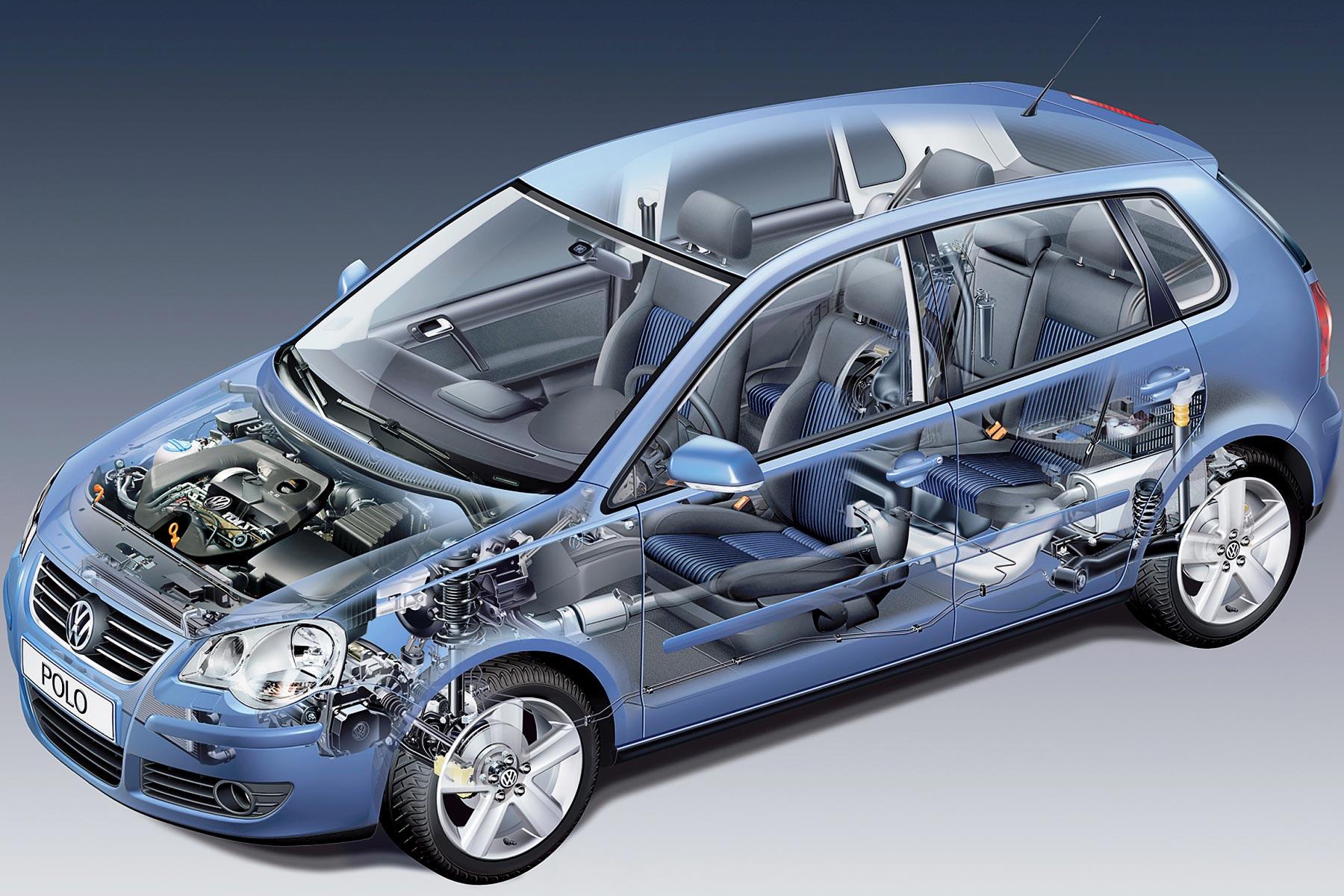 Volkswagen Polo cutaway drawing