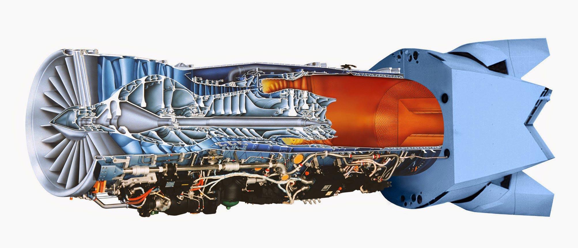 Pratt & Whitney F119 cutaway drawing