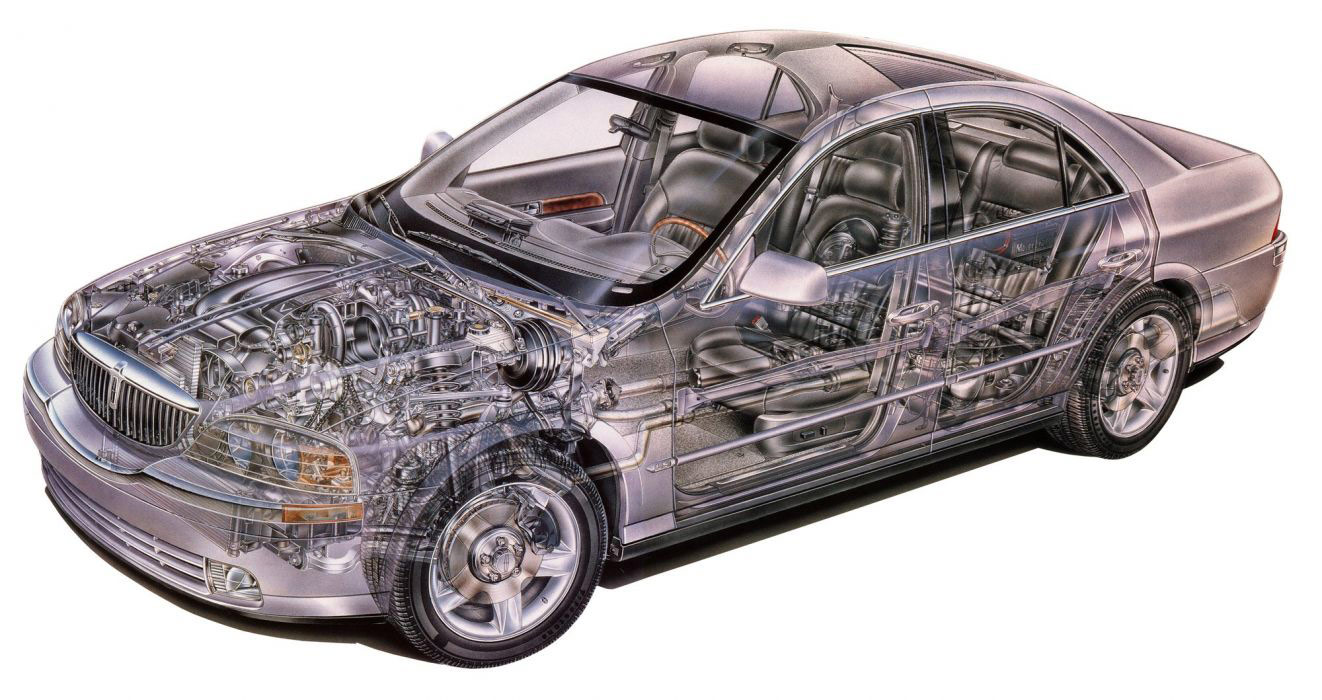 Lincoln LS cutaway drawing