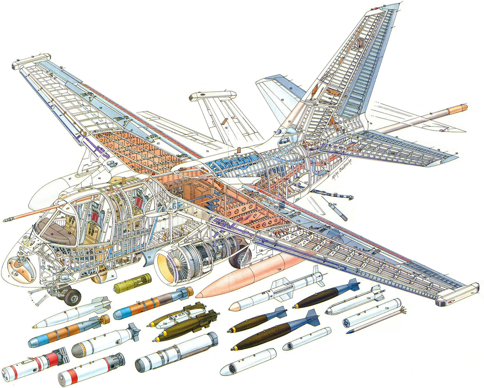 Lockheed S-3 Viking cutaway drawing
