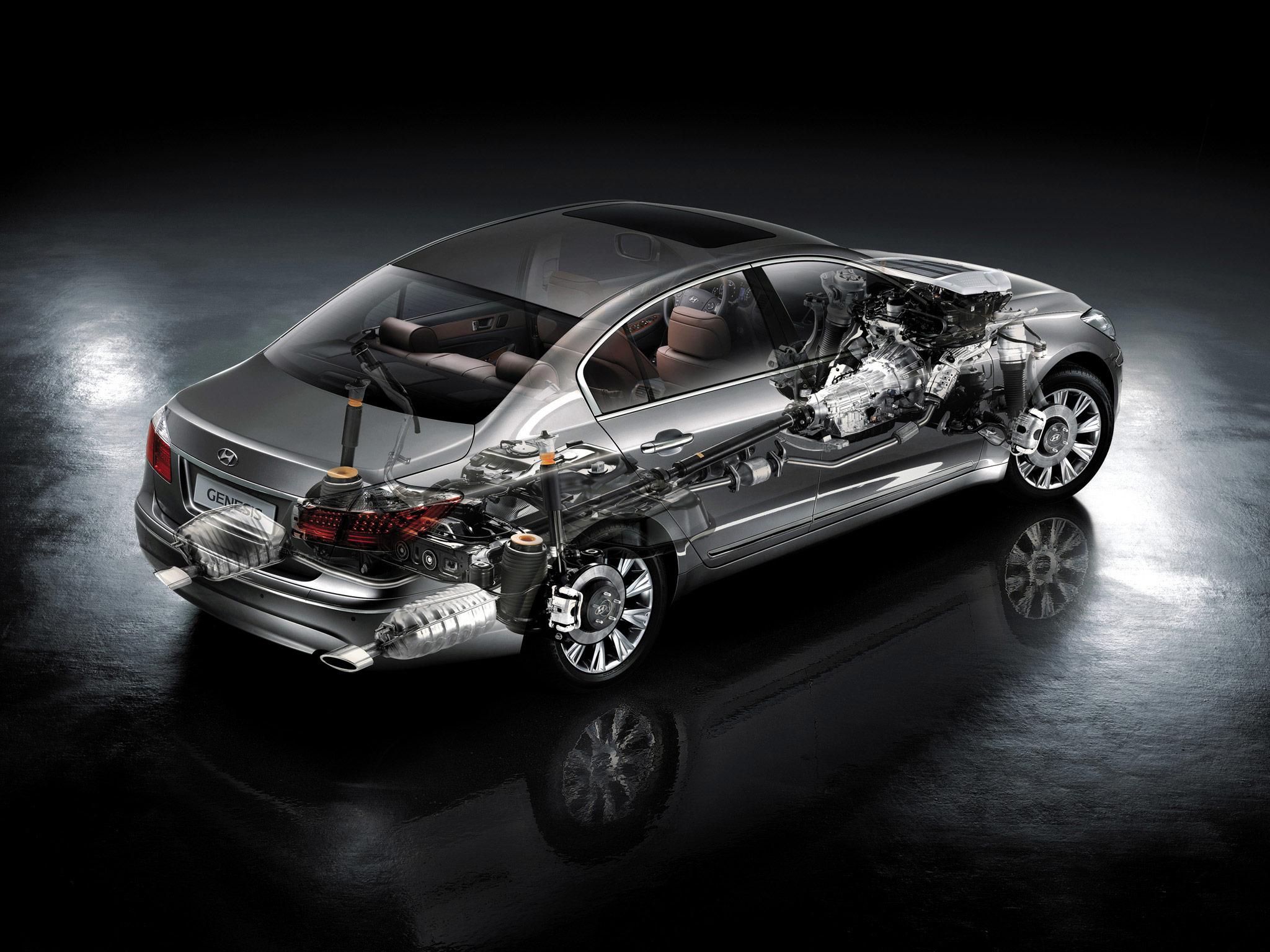 Hyundai Genesis cutaway drawing