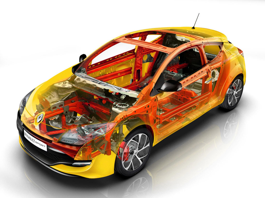 Renault Megane RS 250 cutaway drawing