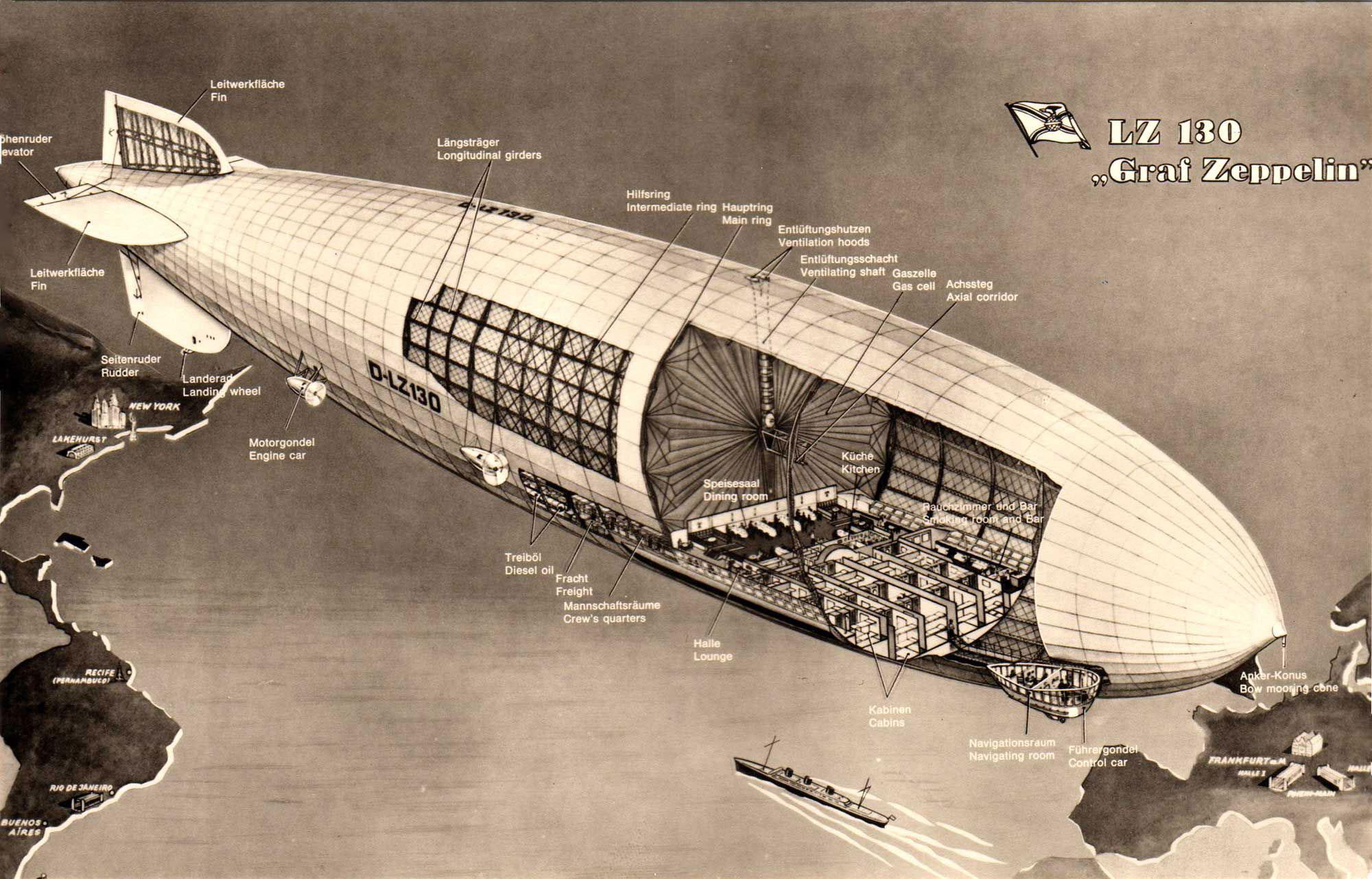 Zeppelin cutaway drawing
