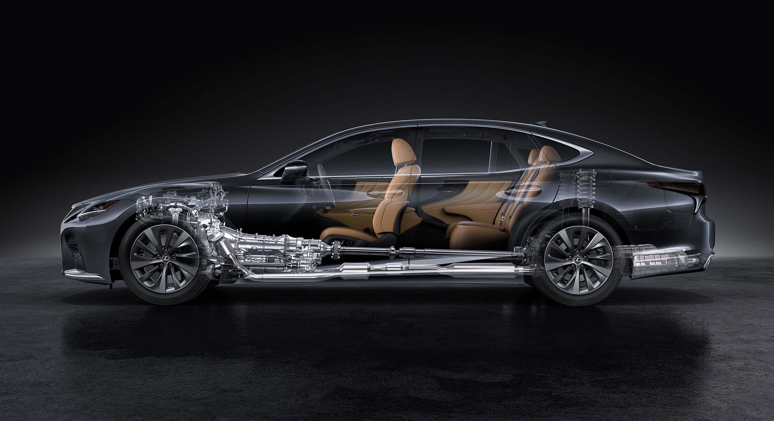 Lexus LS 2021 cutaway drawing