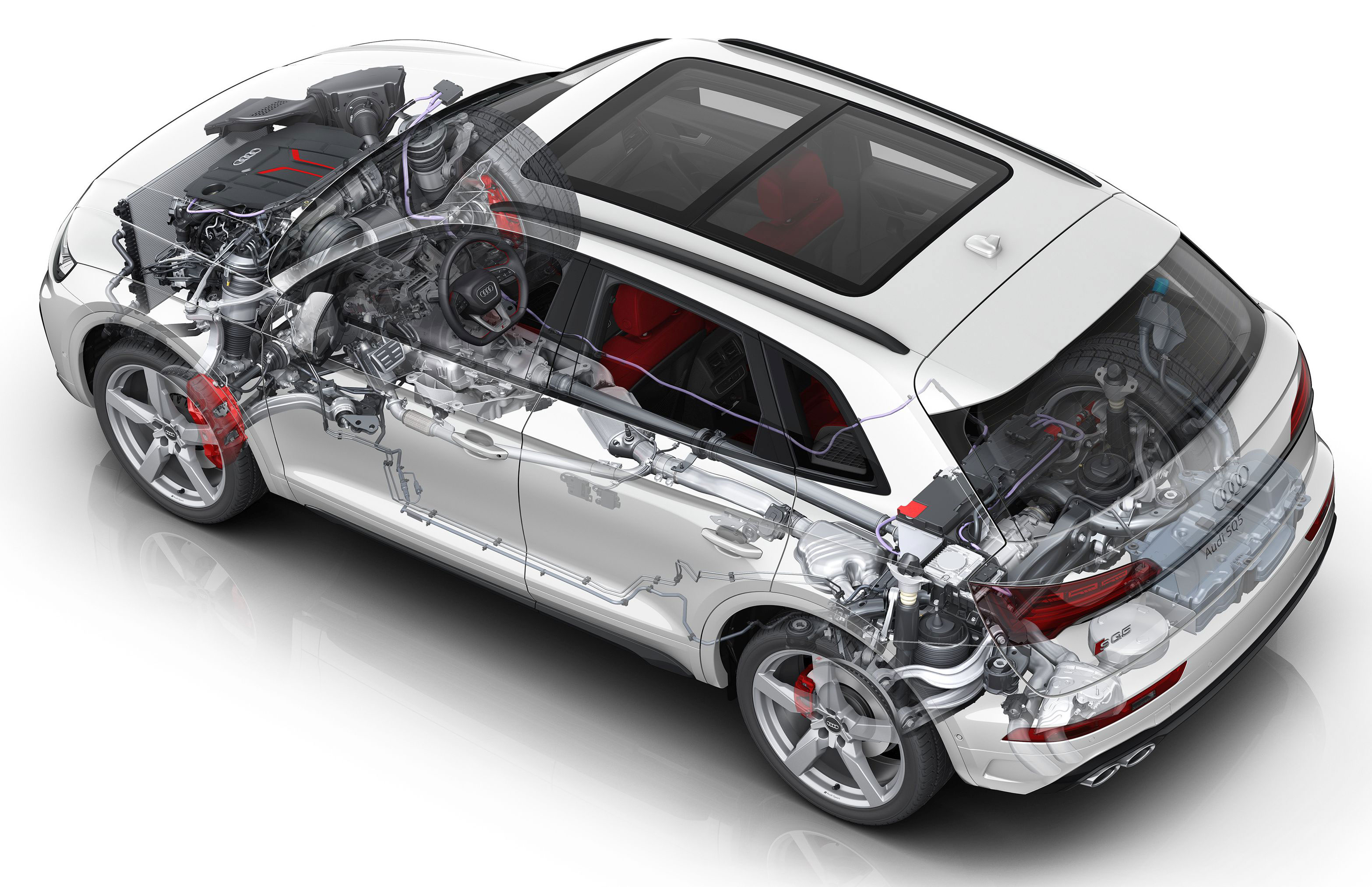 Audi SQ5 TDI cutaway drawing