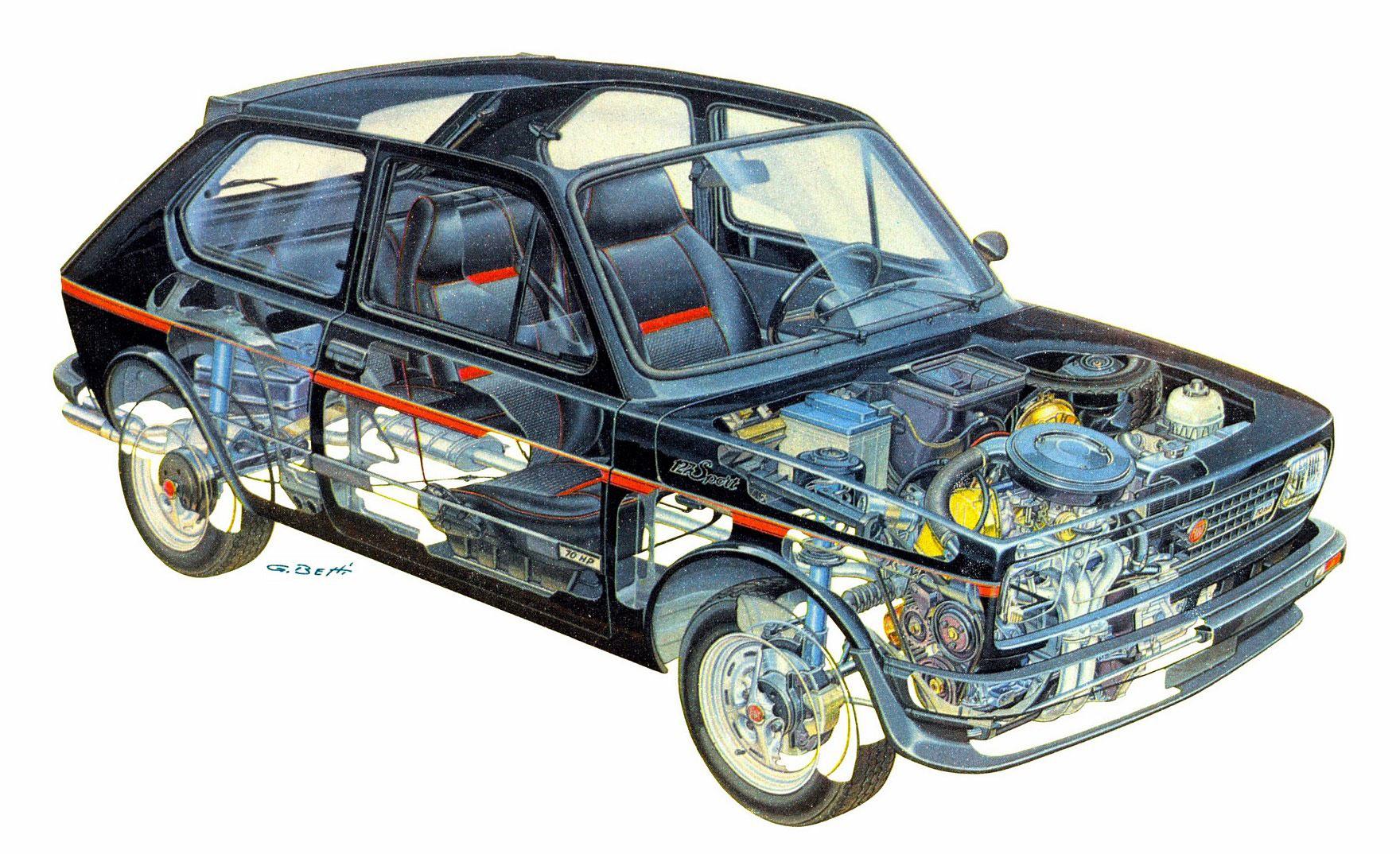 Fiat 127 cutaway drawing