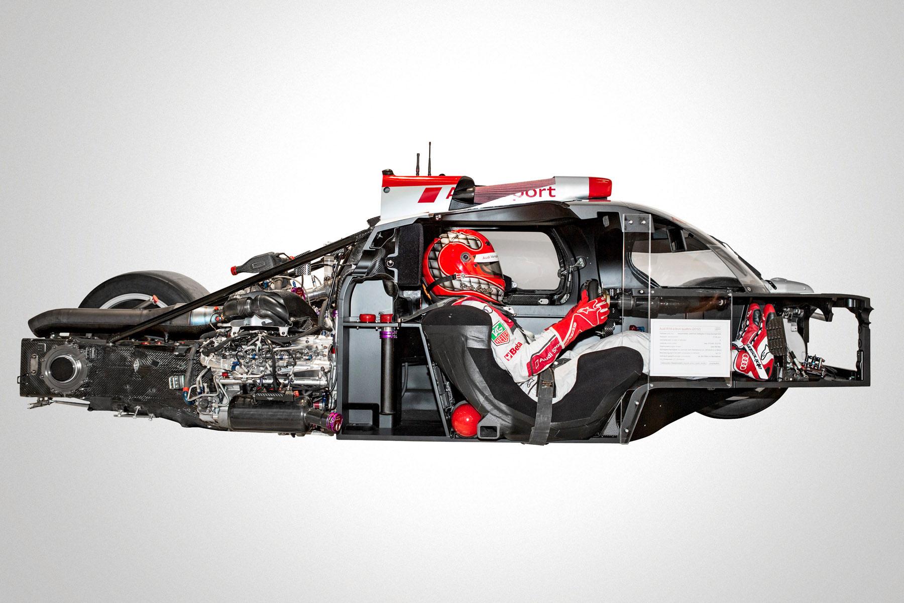 Audi R18 e-tron Quattro cutaway drawing