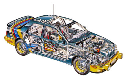 Ford Sierra Cosworth cars rally