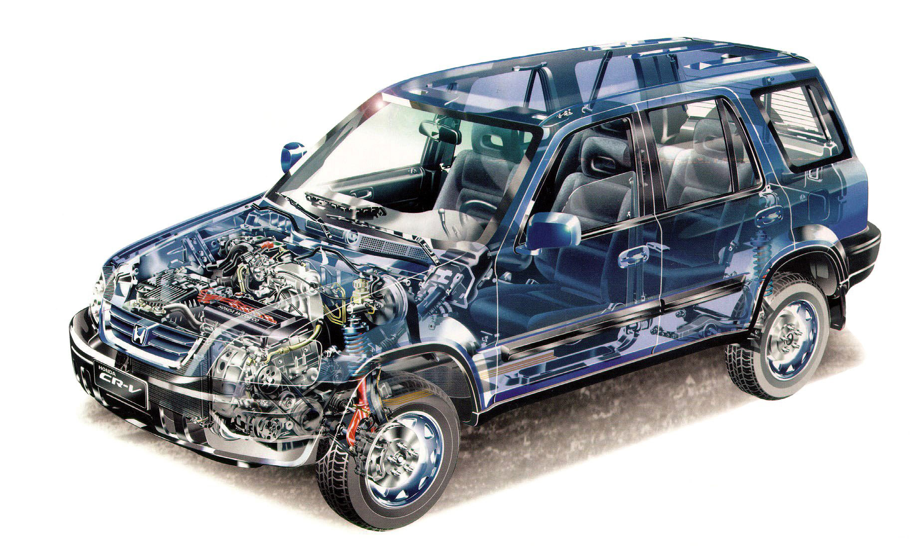 Honda CR-V 1996 cutaway drawing