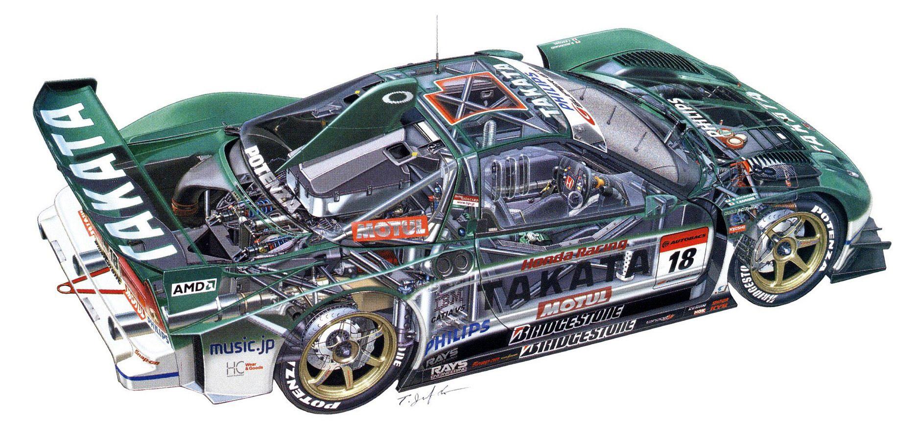 Honda NSX Takata cutaway drawing